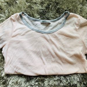 Blush Pink & Gray Soft Tee